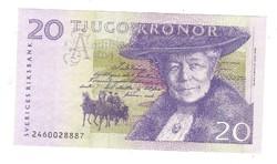 20 kronor korona 1997-2002 Svédország