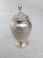 Ezüst fedeles váza. 156 g