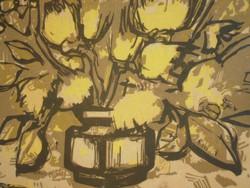 Bordás Ferenc (1911-1982) : Sárga virágok