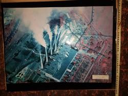 Oroszlányi-, Tiszai hőerőmű légifotó, és három ezüstlelet, és két művészkép, NAGY FOTÓK!