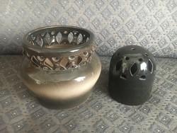 Kombinálható kerámia kaspó és ikebana - újszerű állapotban