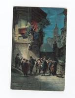 Szép antik Stengel művész képeslap