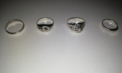 4 db-os régi ezüst  gyűrűk