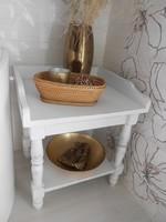 Eredeti  Vintage kis szekrény antikolt fehér új!!