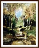 Az Impresszionizmus kedvelőinek -  Erdei romantika ( 50 x 62, olaj )