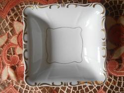 Zsolnay barokk, stafír arany köretes, salátás tál