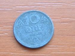 NORVÉGIA 10 ŐRE 1942 CINK WW II NÉMET MEGSZÁLLÁS #