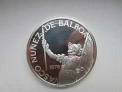Panamai állam 75.évfordulója 0.925 ezüst érme 1978 130gr PP