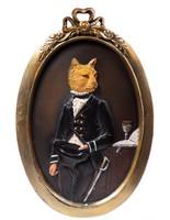Érdekes falidísz - macska jelmezben