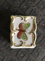 Herendi VBO mintás , barokkos , porcelán gyufa tartó - Újszerű állapotban!