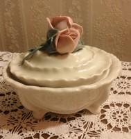 Rózsás porcelán bonbonier Karl Ens
