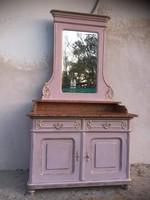 Gyönyörűséges, márványlapos, mosdó szekrény vagy fésülködőasztal, Komód
