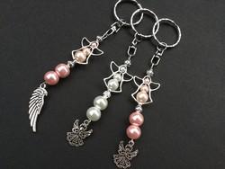 Tekla gyöngy angyal kulcstartó - Mikulás ajándék