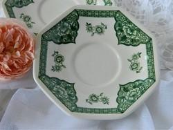 Royal Staffordshire, J&G Meaking  angol csészealátét kistányér  zöld, 2 db