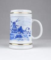 0Y474 Hollóházi porcelán korsó