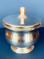 Art Deco ezüst cukortartó 420 gramm