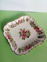 Angol virágos porcelán kínáló