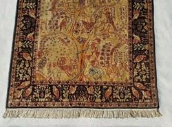 Antik Perzsa Kézi selyem szőnyeg