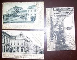 3 nagyon régi miskolci képeslap üzletek! judaika is.