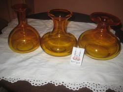 3 darabos dísz üveg garnitúra (esküvői dekoratőrök figyelmébe)