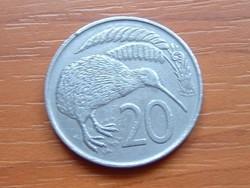 ÚJ-ZÉLAND NEW ZEALAND 20 CENT 1967 KIWI MADÁR #