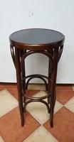 Restaurált antik Thonet asztalka, bárszék, posztamens