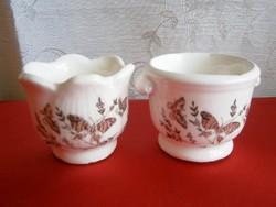 2 db pici kerámia pohár virággal és pillangókkal
