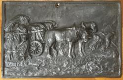 Aratás - vasöntvény kép, plakett (30 cm x 20 cm, 4,05 kg)