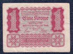 Ausztria 1 Korona 1922 Helmut Freulich felülbélyegzéssel / id 10734/
