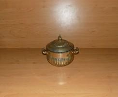 Antik valaha ezüstözött fém cukortartó bonbonier (20/d)