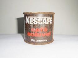 Retro kávé fémdoboz pléh doboz - Nescafé Nestlé - 1970-es évekből
