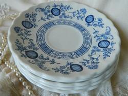 Angol kék hagymamintás Myott Meakin fajansz csészealátét kistányér 5 db