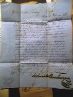 Tíz darab régi, kézzel írt hivatalos irat, dokumentum 1866-94