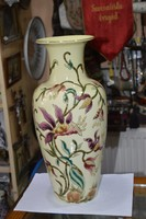 Nagy méretű zsolnay virágmintás váza