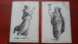 19.sz-i allegorikus kőnyomatok A. W. Böhm -től