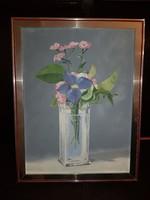 Sam 02 szignós olaj, vászon, 30x40 cm, ezt a vázát én is kiraknám...