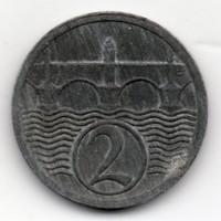 Csehszlovákia 2 csehszlovák haller, 1924