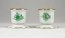 0Y528 Herendi Apponyi porcelán gyertyatartó pár