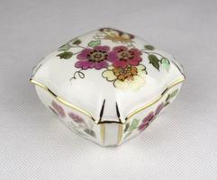 0Y515 Búzavirágos Zsolnay porcelán bonbonier