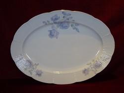 Meisseni porcelán húsos tál, mérete 38 x 27 cm.