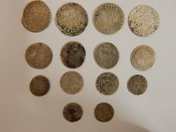 Középkori ezüst pénzek 14 db egyben eladó