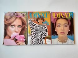Retro magazin 3 db Ez a divat évkönyv 1978 1985 1986