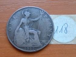 ANGLIA ANGOL 1 PENNY 1917 118.