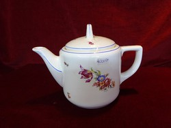 Gránit porcelán teáskanna. Antik,  Ritka virágmintával.
