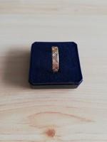 14K arany vésett karikagyűrű!