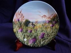 Royal Doulton dísztányér - Tájkép mezei virágokkal