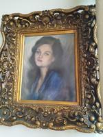 """""""Rónai 99"""" szignóval ellátott női portré"""