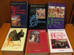 Robert Merle könyvek - 6 db - történelmi regényfolyam - Európa Könyvkiadó