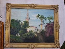 Cserna Károly festette, olaj