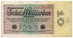 Németország 10 milliárd német inflációs Márka, 1923, ritka